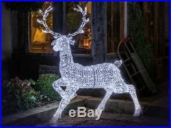 1.4m Large Jewelled Stag Lit with 300 White LED's Outdoor Christmas Display
