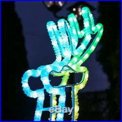 1m Twinkly Smart App Controlled Christmas Reindeer LED Silhouette Motif Light