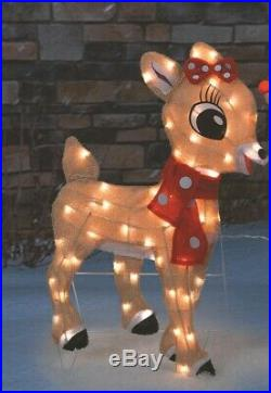 32 Rudolph The Red Nose Reindeer and Clarice Set of Christmas Decorations