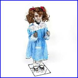 3 FT Halloween Animated Creepy Girl Jump Rope, music, sounds, rope moves Prop