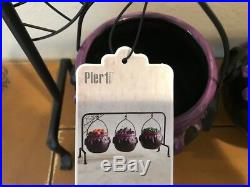 3 Hanging Cauldron Halloween Spider Web Serving Bowls Set NWT Pier 1 SOLD OUT