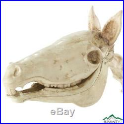 52 In. Standing Skeleton Horse Pony LED Eyes Halloween Sound Effects Yard Décor