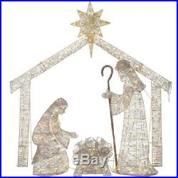 73 Lighted Gold Nativity Display Holy Family Creche Outdoor Christmas Decor