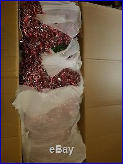 7.5 ft. Pre-Lit Sterling Tinsel Pink and Champagne Christmas Tree with 750 Clear