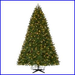 7.5 ft. Quick-Set Pre-Lit LED Sierra Nevada Artificial Christmas Tree with Color