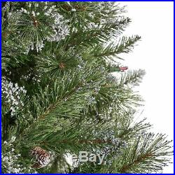 7-foot Mixed Spruce Pre-Lit or Unlit Hinged Artificial Christmas Tree with Snow