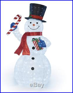 7ft (2.15 m) Indoor/Outdoor LED Pop Up Christmas Snowman With Twinkle Lights