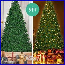 9 ft Pre-Lit PVC Artificial Christmas Tree with 700 LED Lights-NEW