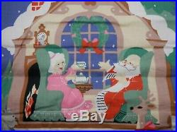 Avon COUNTDOWN TO CHRISTMAS Fabric ADVENT CALENDAR With Mouse & Packaging 1987
