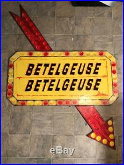 BETELGUESE MARQUEE from BEETLEJUICE 4 FT. TALL HALLOWEEN LAWN ART YARD DECOR