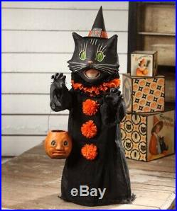Bethany Lowe Halloween Scaredy Cat Ghoul Paper Mache Figurine, 28''H