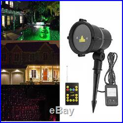 Christmas Laser Moving Firefly Remote Landscape Garden Light Holiday Waterproof