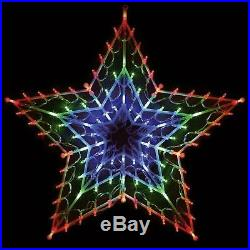 Christmas Multi Colour 100 Led Star Silhouette Window Decoration Chaser Lights