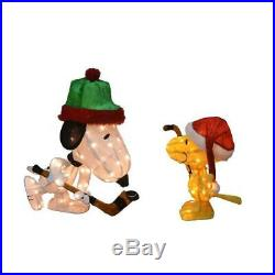 Christmas Yard Decorations Peanuts Pre-Lit 3D Snoopy and Woodstock (2-Pieces)