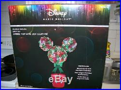 Disney Magic Holiday Mickey Mouse Multi-Color Christmas LED Topiary New