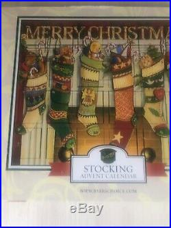 Fortnum and Mason Wooden Fireside Advent Calendar New In Box Stockings New