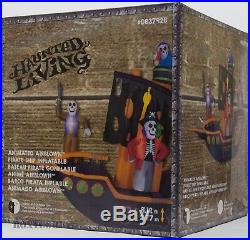 Halloween Gemmy 9.12-ft x 11.5-ft Animatronic Lighted Pirate Ship Inflatable