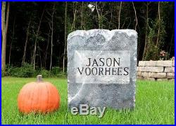 Jason Voorhees Friday the 13th Tombstone Prop Horror Judith Myers Halloween