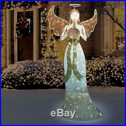 Life Size Twinkling Pre-Lit Christmas Angel Indoor Outdoor Yard Decoration LED