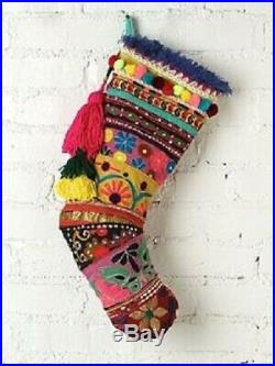 New Anthropologie's sister co. Free People Triple Happiness Christmas Stocking