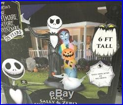 Nightmare before Christmas Airblown Inflatable Halloween Yard Decor Gemmy 6ft