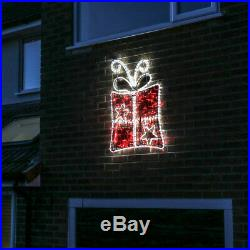 Plug In Outdoor LED Rope Light Christmas Tree Stocking Present Silhouette Motif