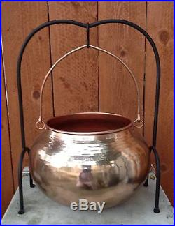 Pottery Barn Copper Cauldron With Stand Candy Punch Halloween Party New in Box