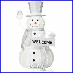 Pre-Lit 52 LED Light Frosty The Snowman Outdoor Yard Lawn Christmas Decoration
