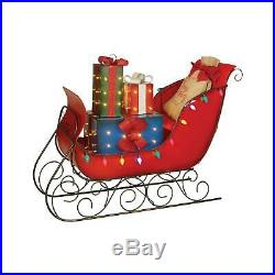 Pre-Lit LED Christmas Holiday Lighted Vintage 54 VINTAGE SLEIGH with Presents