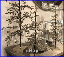 RARE Pottery Barn FACETED MIRROR X-LARGE Smoke GLASS TREE CHRISTMASBLING