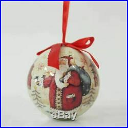 Set of 14 Matching Christmas Baubles Traditional Design, In Presentation Box #NG