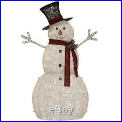 Snowman Christmas 5 ft. Tall Pre-Lit LED Lights Hat Outdoor Holiday Decoration