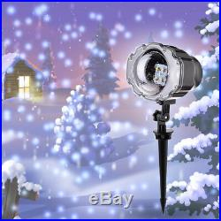 White Snow Falling Outdoor Moving Projector Laser LED Garden Xmas Stage Lighting