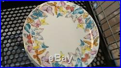 Williams Sonoma Floral Meadow Charger plates Butterfly Easter S/4 New wo box